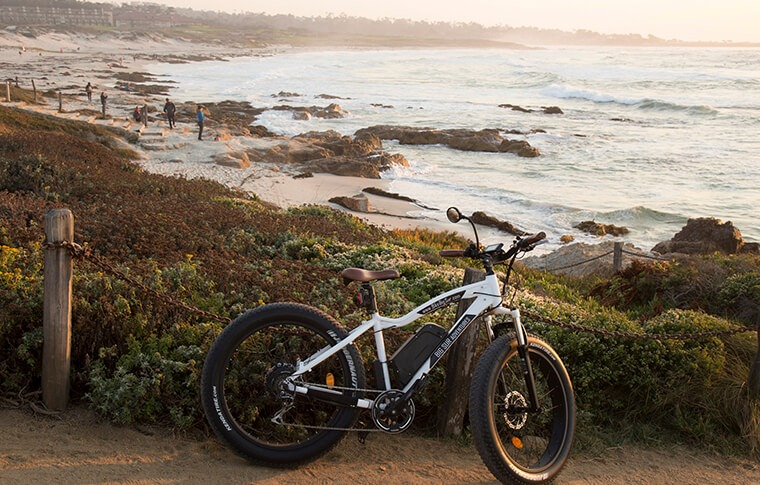 E-Bike at Asilomar Beach