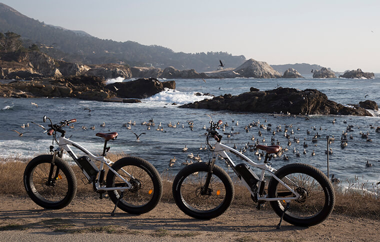E-Bikes Near Bird Island at Point Lobos