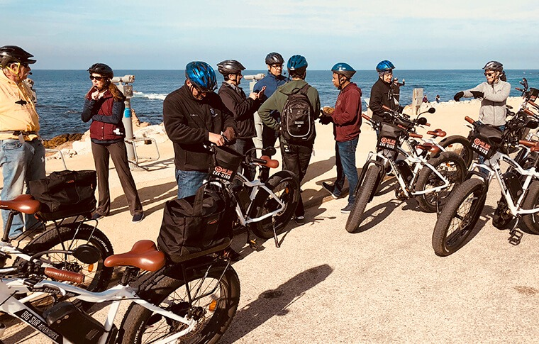 E-Bike Group on Beach
