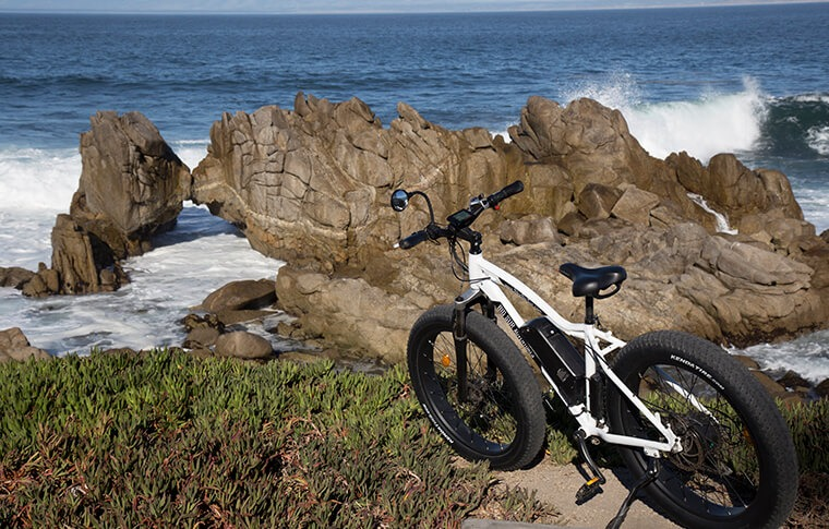 E-Bike Near Land Bridge in Pacific Grove