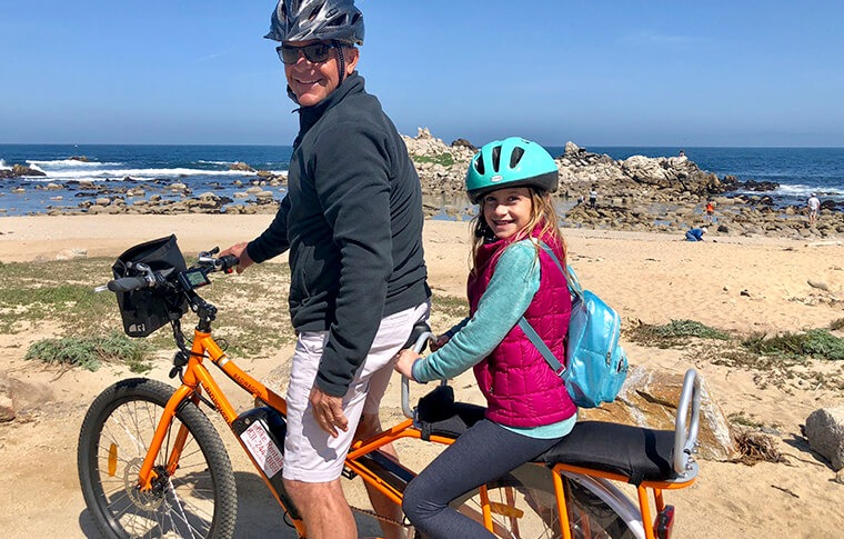 Father and Daughter on an E-Bike