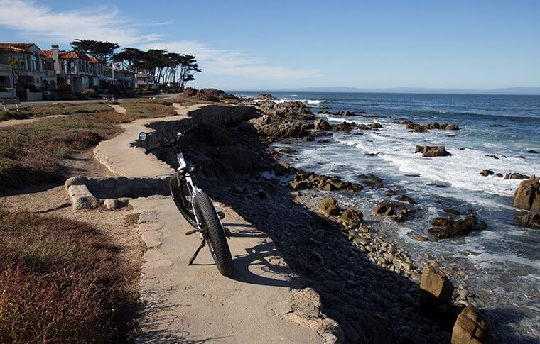 E-Bike on Coast of Pacific Grove